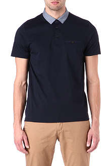 TED BAKER Printed collar polo shirt