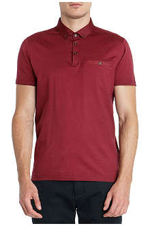 TED BAKER Grainny grosgrain collar polo shirt
