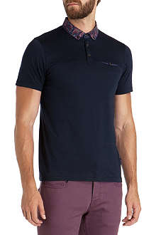 TED BAKER Edging printed collar polo