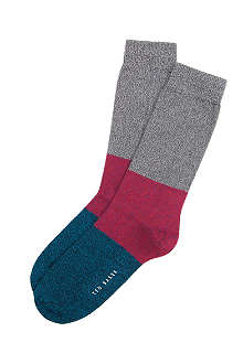 TED BAKER Pickup block-stripe socks