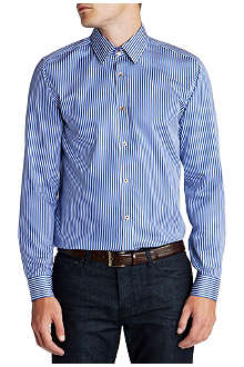 TED BAKER Bengal stripe single-cuff shirt