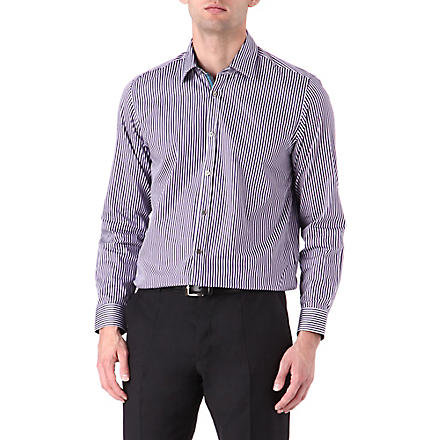 TED BAKER Bengal stripe single-cuff shirt (Purple