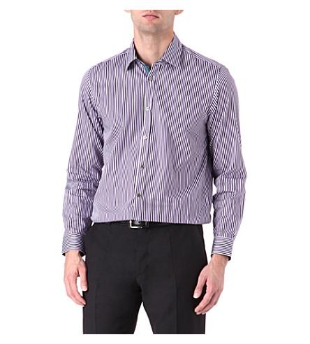 TED BAKER Bengal stripe single-cuff shirt (Purple