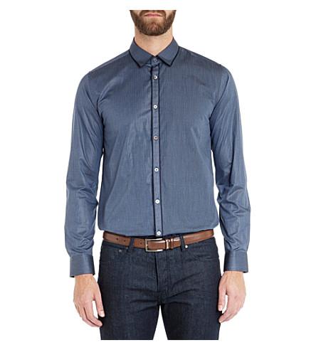 TED BAKER Itsaguy Dobby stripe shirt (Blue