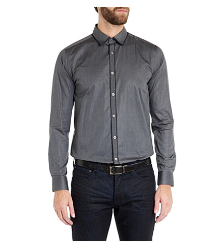 TED BAKER Itsaguy Dobby stripe shirt (Grey