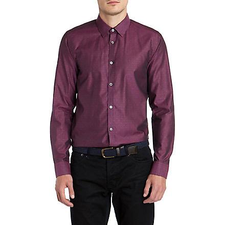 TED BAKER Gudforu spotty tonal shirt (Pink