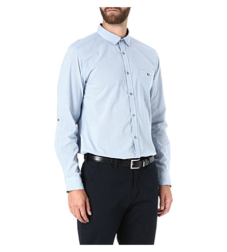 TED BAKER Pinchme check shirt (Blue
