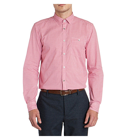TED BAKER Pinchme check shirt (Red