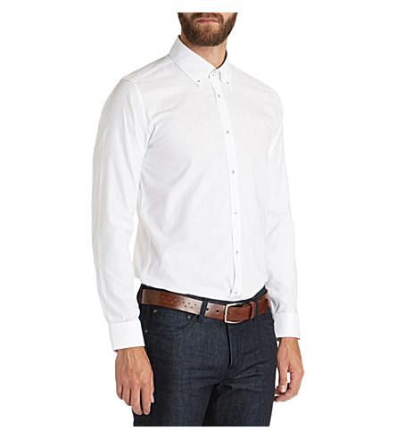 TED BAKER Teabag floral jacquard shirt (White