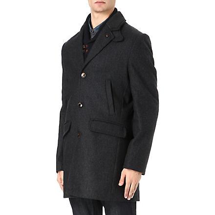 TED BAKER Zainab herringbone coat (Charcoal