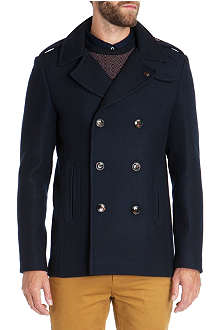 TED BAKER Double breasted wool coat