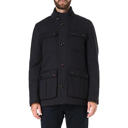 TED BAKER Lamtwin four pocket coat (Navy