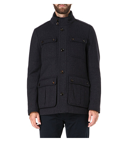 TED BAKER Lamtwin four pocket coat (Navy