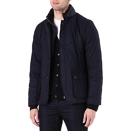 TED BAKER Vertical quilted jacket (Navy