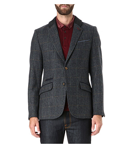TED BAKER Flavius checked wool blazer (Brown