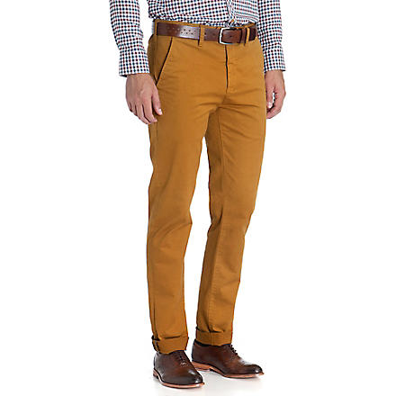 TED BAKER Slim-fit skinny chinos (Mustard