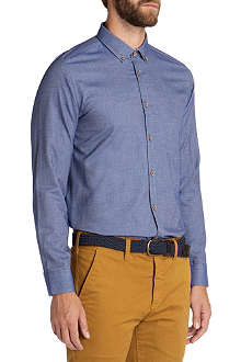 TED BAKER Flancan single-cuff flannel shirt