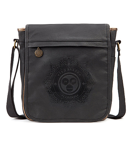 TED BAKER Topkat embossed flight bag (Black