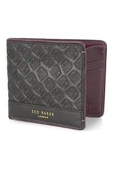 TED BAKER Hailcab embossed-leather wallet