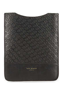 TED BAKER Black Cab embossed-leather tablet case