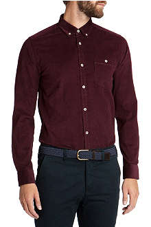 TED BAKER Mindblo single-cuff corduroy shirt
