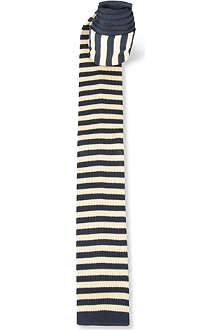 TED BAKER Lukbuk knitted stripe tie