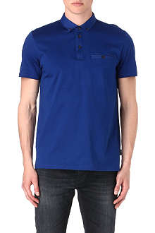 TED BAKER Grainny grosgrain-collar polo shirt