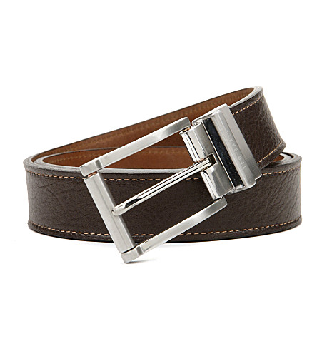 TED BAKER Casual reversible belt (Chocolate