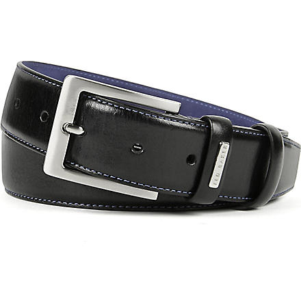 TED BAKER Leather formal belt (Black