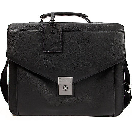 TED BAKER Lozzen leather briefcase (Black