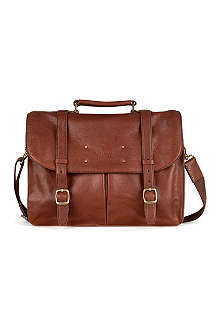 TED BAKER Nubran grained-leather briefcase
