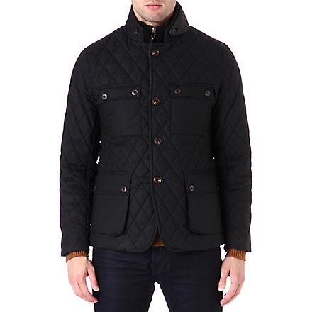TED BAKER Diamond quilted jacket (Black