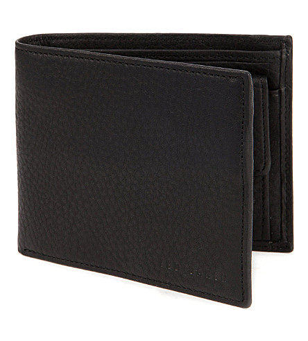 TED BAKER Adition leather bifold wallet (Black