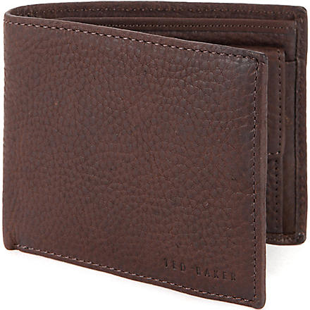 TED BAKER Adition leather bifold wallet (Chocolate