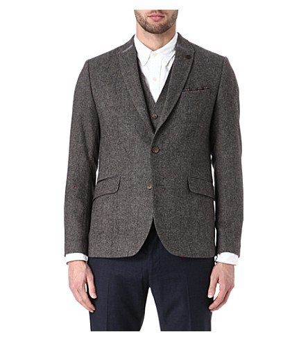 TED BAKER Upperz wool-blend blazer (Brown