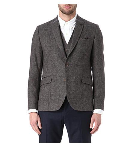 TED BAKER Upperz wool-blend blazer (Brown