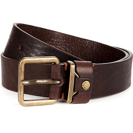 TED BAKER Katchit metal keeper rivet belt (Chocolate