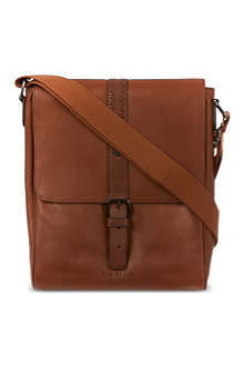 TED BAKER Brogued leather flight bag