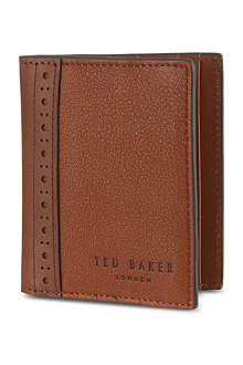 TED BAKER Brogue bifold card holder
