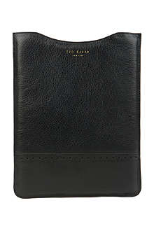 TED BAKER Serated leather tablet sleeve