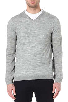 TED BAKER Yohan v-neck cable jumper