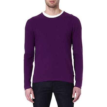TED BAKER Kales textured jumper (Deep+purple