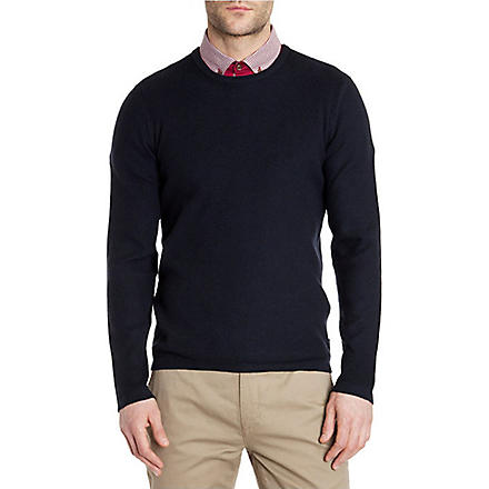 TED BAKER Kales textured jumper (Navy