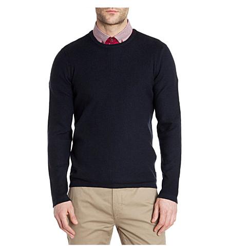 TED BAKER Kales textured jumper (Navy