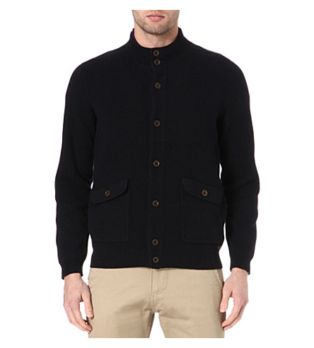 TED BAKER Supkey contrast stitch cardigan (Navy
