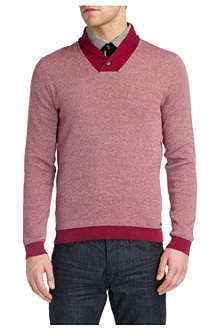TED BAKER Hortie shawl-neck jumper