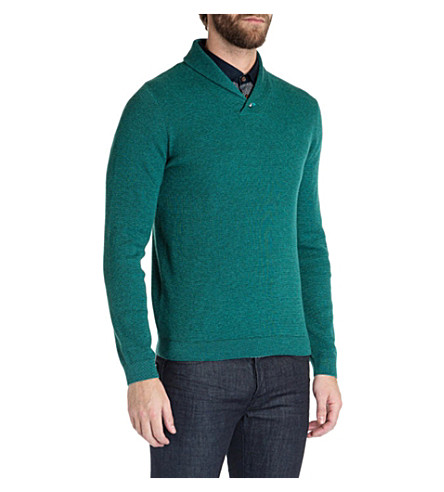 TED BAKER Hortie shawl-neck jumper (Jade