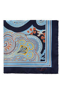 TED BAKER Paisley print pocket square