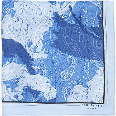 TED BAKER Camodee silk pocket square (Blue