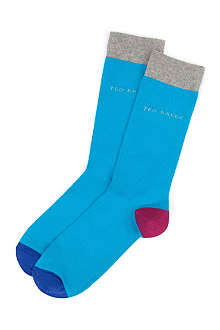 TED BAKER Brownie contrast socks
